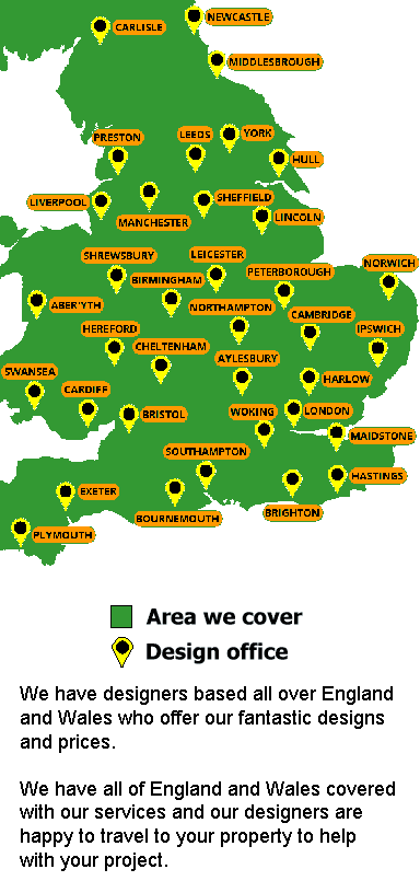 map showing the coverage of our architects